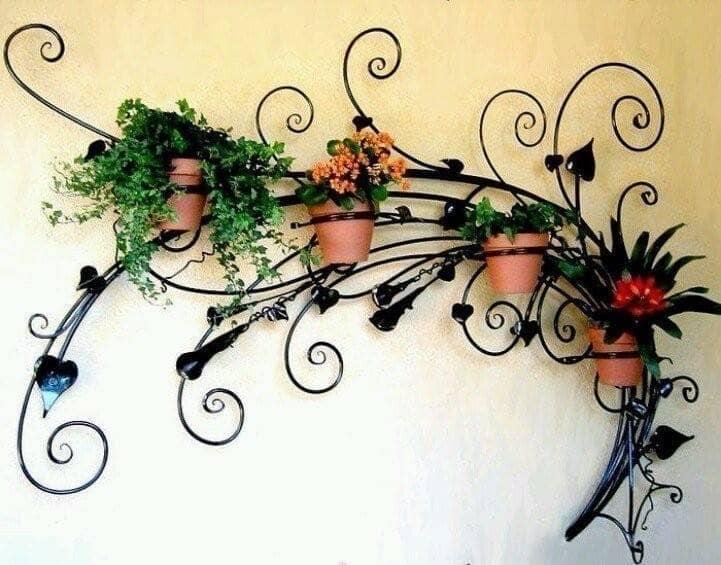 Кованая подставки для цветов своими руками